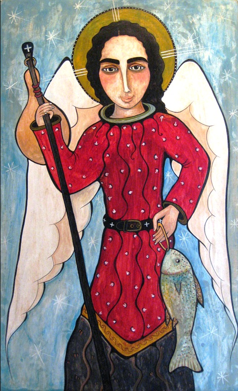 St. Raphael the                     Archangel by Virginia Maria Romero